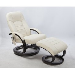PU Leather Massage Chair Recliner Ottoman Lounge Remote