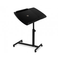 Adjustable Computer Stand with Cooler Fan - Black