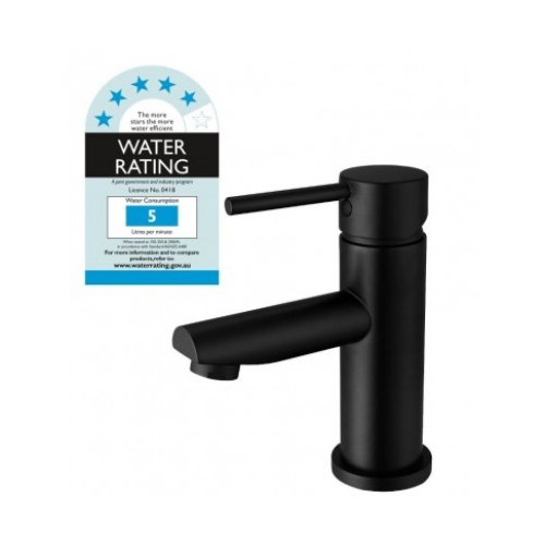 Basin Mixer Tap Faucet Electroplated Matte Black Finish