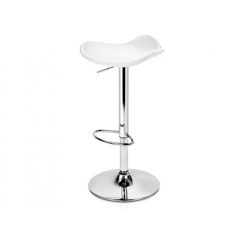 Fine Artiss 2X Gas Lift Bar Stools Swivel Chairs Leather Chrome White Gmtry Best Dining Table And Chair Ideas Images Gmtryco