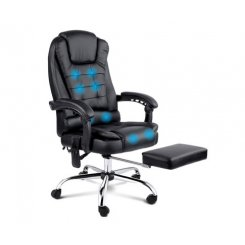 8 Point Reclining Massage Chair - Black