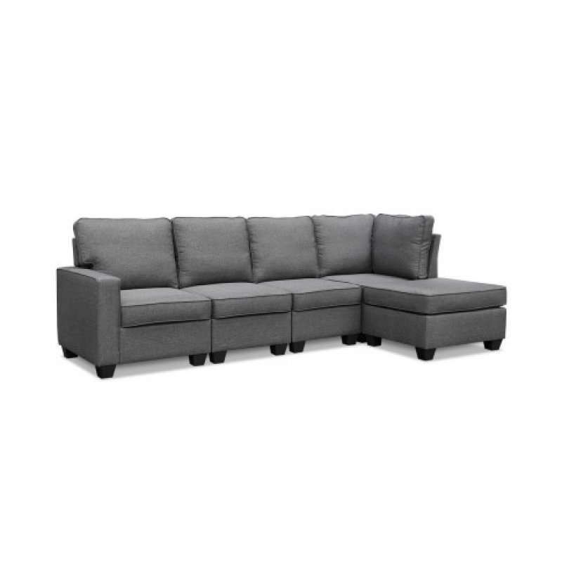 Fine Artiss Sofa Lounge Set 5 Seater Modular Chaise Chair Suite Couch Fabric Grey Gmtry Best Dining Table And Chair Ideas Images Gmtryco