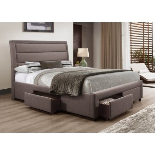 Megan Bedframe Queen Size Light Grey