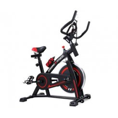 Spin ExercBike Flywheel Fitness Commercial Home Workout Gym Machine Bonus Phone Holder Black