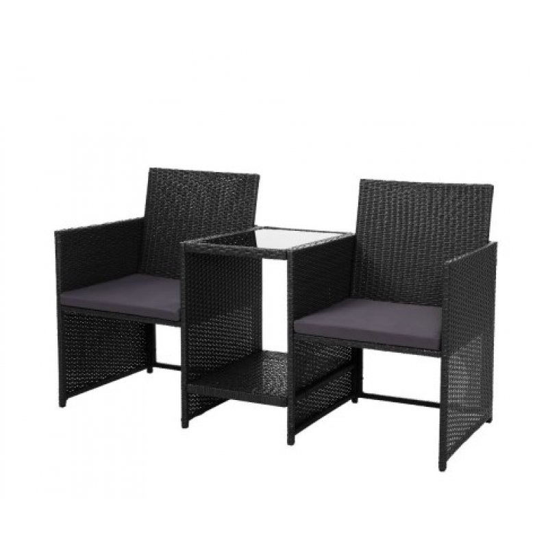 Fine Gardeon Outdoor Setting Wicker Loveseat Birstro Set Patio Garden Furniture Black Ocoug Best Dining Table And Chair Ideas Images Ocougorg