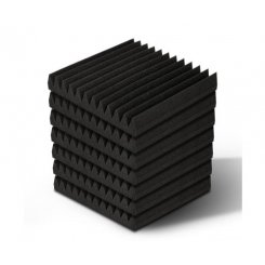 60pcs Studio Acoustic Foam Sound Absorption Proofing Panels 30x30cm Black Wedge