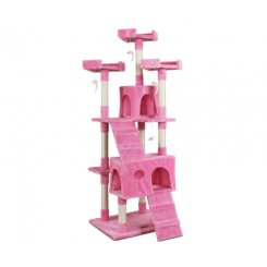 i.Pet Cat Tree Trees Scratching Post Scratcher Tower Condo House Furniture Wood Pink 180cm