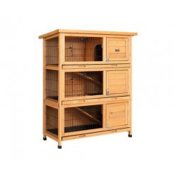 i.Pet Rabbit Hutch Hutches Large Metal Run Wooden Cage Waterproof Outdoor Pet House Chicken Coop Guinea Pig Ferret Chinchilla Hamster 91.5cm x 46cm x 116.5cm