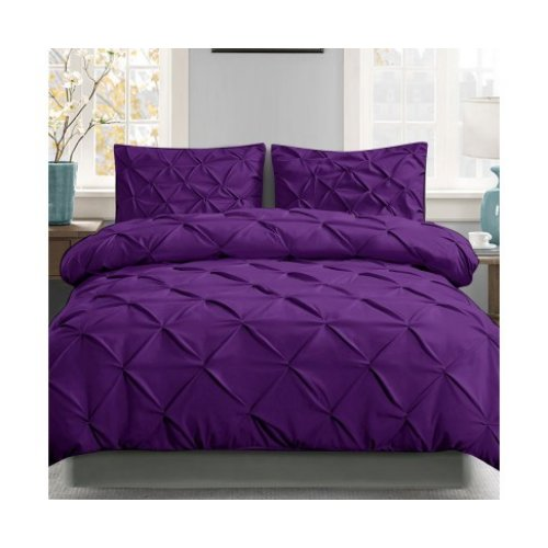 Giselle Luxury Classic Bed Duvet Doona Quilt Cover Set Hotel King Purple