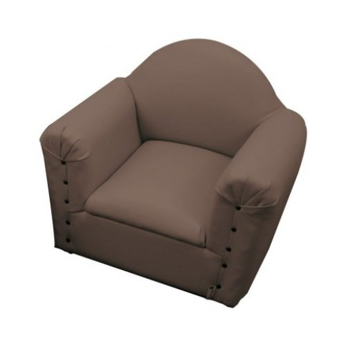BROWN VINYL KIDEE SOFA