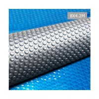 Aquabuddy 8 X 4.2m Solar Swimming Pool Cover - Blue & Grey