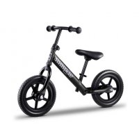 "Kids Balance Bike Ride On Toys Push Bicycle Wheels Toddler Baby 12"" Bikes-Black"